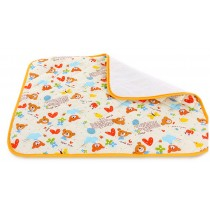 Toddler Waterproof Washable Diaper Changing Mat Pad(White Bear)-75*120cm