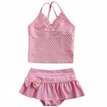 Cute Baby Girls Beach Suit Lovely Shining Swimsuit 1-2 Years Old(80-90cm)