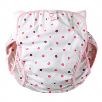 Washable Waterproof Baby Toddlers Pant Newborn Infant Reusable Diaper PINK Spots