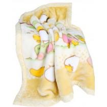 Thick Yellow Duck Raschel Baby Boys Blanket