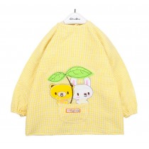 Waterproof Seersucker Kids Painting Smocks Baby Bibs YELLOW, 0-1 Years
