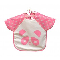 [PINK PANDA]Cartoon Waterproof Sleeved Bib Baby Feeding Smock, 1-3 Years