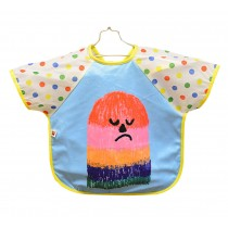 [BLUE THUMB]Cartoon Waterproof Sleeved Bib Baby Feeding Smock, 1-3 Years