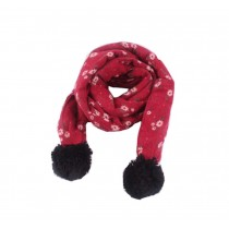 Winter New Baby Scarf Fashion Tassels Scarf, Bordeaux