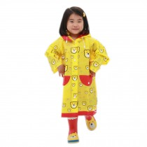 YELLOW Bears Toddler Rain Day Outerwear Baby Rain Jacket Infant Raincoat L