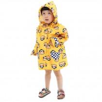 YELLOW Monkey Toddler Rain Day Outerwear Baby Rain Jacket Infant Raincoat S