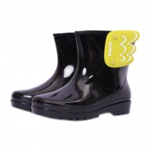 [BLACK]WingsInfant Rainy Day Wear Toddler Rain Shoes Baby Rain Boot Rubber Shoes