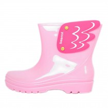 [PINK]Wings Infant Rainy Day Wear Toddler Rain Shoes Baby Rain Boot Rubber Shoes