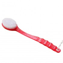 [Set of 2] Durable Double-side Long Handle Massage Body Brush/Bath Brush,RED