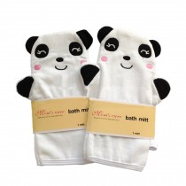 [Set of 2] Durable Soft Cute Baby/Kids Bath Sponge/Mitt/Gloves, Panda