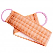 Scrubber Bath Exfoliating Bath Soft Belt Body Bathing Towel(Orange)
