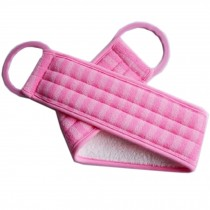Scrubber Bath Exfoliating Bath Soft Belt Body Bathing Towel(Pink)