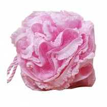 Flower Shape Bath and Shower Sponge Gentle Exfoliating Mesh Bath Sponge (Pink)