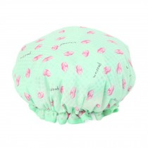 Stylish Design Waterproof Double Layer Shower Cap Spa Bathing Caps, Cyan Kiss