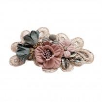 Handmade Hair Barrettes French Barrette Style Bowknot Flower Cloth Hair Bow