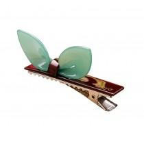 Set of 2 Rabbit Ear Hair Pin Fashion Hair Clip/Hairpin,Green
