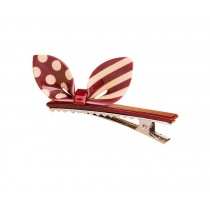 Set of 2 Rabbit Ear Hair Pin Fashion Hair Clip/Hairpin,Red/White