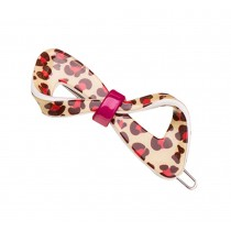 Set of 2 Flower Hair Pin Fashion Hair Clip Creative Hairpin,Orange Leopard
