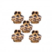 [Set Of 5] Fashion Cute Leopard Mini Fringe Clip Hair Styling Claws, KHAKI Bear