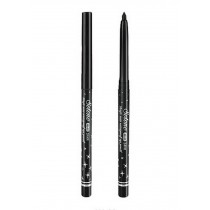 Rotating Waterproof Eyeliner Pen Bold Makeup Pencil Eye Liner SILVER DRILL BLACK