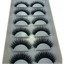 Long and Thick Eyelashes Smoky Eyes False Eyelashes BLUE & BLACK Style 6 Pairs