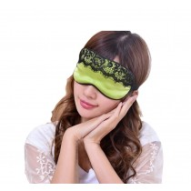 Super Soft Silk Eye Mask Lovely Personality Eyeshade Sleep Eye Mask Oyster GREEN