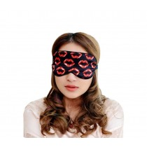 Super Soft Silk Eye Mask Lovely Personality Eyeshade Sleep Eye Mask RED Lips