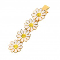 Beautiful Lovely [WHITE Daisy] Hair Clips Hair Pins Hair Accessories(3.3*0.7'')