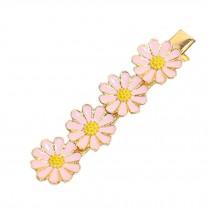 Beautiful Lovely [PINK Daisy] Hair Clips Hair Pins Hair Accessories(3.3*0.7'')