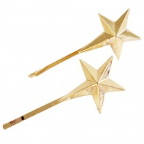 [Shiny Star] Fabulous Hair Pins Decorative Metal Hair Clips Side Clips,2 Pairs