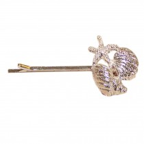 Set of 3 Unique Chic [Silver Conch] Hair Pins Decorative Side Hair Clips(2.48'')