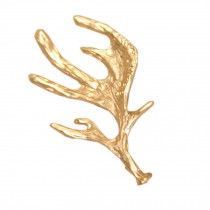 Set of 2 Retro Chic Gold [Elk Antlers] Side Hair Clips Hair Pins(2.1*1.1'')