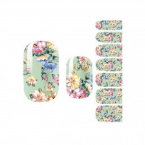 Flora Nail Decals Colorful Nail Wrap Nail Art Sticker Decoration, Set of 3