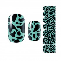 Set of 3 Nail Art Sticker Nail Decals Nail Wrap Decoration Cute Cow Pattern