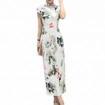 Simple Evening Dress Chinese Traditional Dress Cheongsam Party Dress Qipao Dress