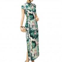 Simple but Elegant Chinese Traditional Dress Qipao Mandarin Collar Cheongsam