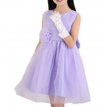 Girl's Tulle Lace Princess Dress Party Dresses, PURPLE