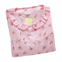 [Pink Floral]Maternity Pajamas Nursing Pajamas Set Cotton Sleepwear Nightwear