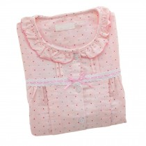 [Pink Dots] Cotton Maternity Nightwear Nursing Pajamas Set Breastfeeding Pajama