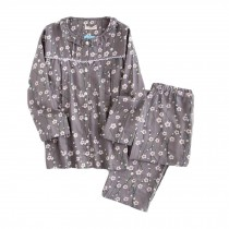 [Plum Blossom] Cotton Maternity Pajamas Set Nightwear Breastfeeding Pajamas