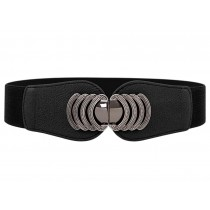 Women Girls Fashion Wide Apparel Belts Cinch Belt Waistband, BLACK
