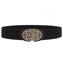 Grand Elegant Wide Apparel Belts Cinch Belt Waistband, BLACK