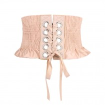 Satin Style Waist Belt Obi Belts Waist Band Elastic Belts Lace-up Wide Waistband