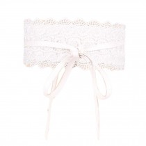 Lace-up Wide Waistband Obi Belts Waist Band Elastic Belts Lace Style Waist Belt