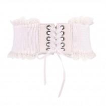 Lace-up Wide Waistband Corset Belt Waist Belt Obi Belts Waist Band Elastic Belts
