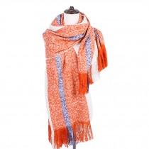 Women's Plaid Blanket/Cozy Large Size Scarf/Winter Warm Wool Shawl/Scarf Wrap