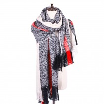 Winter Warm Lattice Large Scarf Wrap/Women's Long Shawl/Cozy Large Size Blanket