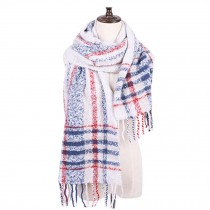 Women's Long Shawl/Winter Warm Lattice Large Scarf Wrap/Soft Large Size Scarf