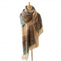 Knitted Woolen Scarf/Super Soft Wrap Shawl/Fashion Winter Warm Tartan Scarf
