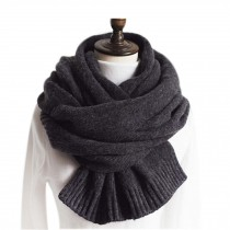 Fashion Knitted Woolen Scarf/Comfortable Winter Warm Unisex Neckerchief/GREY